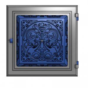 Чугунные топочные дверцы печей VK29 фото